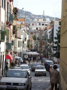 A street scene in Funchal