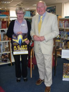 With Helen Cooper at Tavistock Library