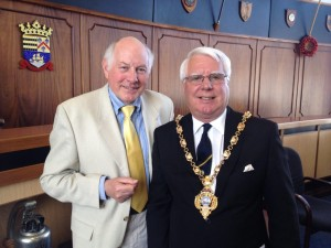 Author with John Beavis Mayor of Gosport 2013/14