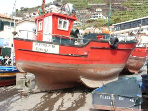 A typical fishing boat of Madeira.